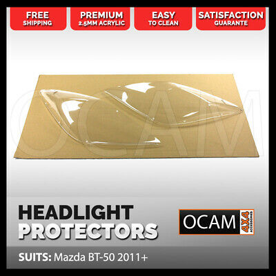 OCAM Headlight Headlamp Protectors for Mazda BT50 2011-2017 Lamp Covers