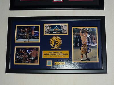 Wwe Plaque Rare John Cena Vs The Rock Wrestlemania 29 Signed Auto Autograph New