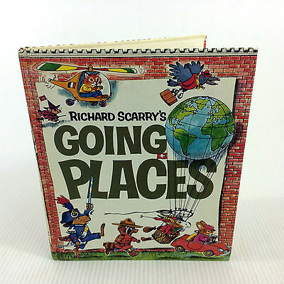 Going Places Book Richard Scarry Vintage 1971 Look Learn Library Large Hardcover