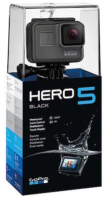 New GoPro HERO5 BLACK 4K Ultra HD Action Camcorder - US Latest Model US Warranty