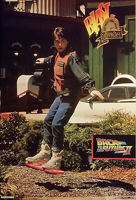 RARE BACK TO THE FUTURE II 2 VINTAGE POSTER 1989 21x32 MICHAEL J FOX SPIELBERG