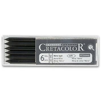 Cretacolor - Nero Black Lead Soft 6 / Pack