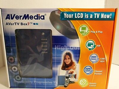 AVerMedia AVerTV Box7 Your LCD Is A TV Tuner Now Aver Media Box 7