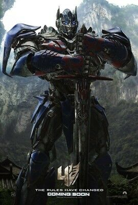 TRANSFORMERS AGE OF EXTINCTION 4 MOVIE POSTER 2 Sided ORIGINAL Ver A 27x40
