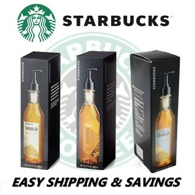 Starbucks Flavored Coffee Syrup 12 OZ Bottle Hazelnut Vanilla Pick 1 Free Ship