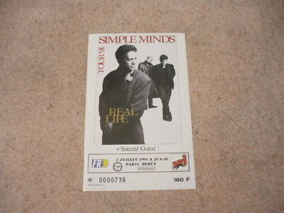 Concert Ticket-1991-2nd July-SIMPLE MINDS-PARIS-BERCY