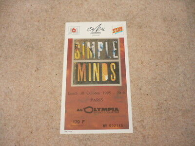 Concert Ticket-1995-30th October-SIMPLE MINDS-PARIS
