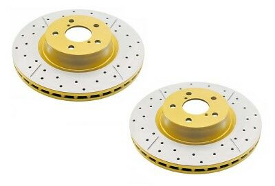 DBA Front X-Gold Brake Rotor Pair DBA2510X fits Honda Accord Euro 2.4 (CL9)