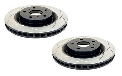 DBA Front T2 Slotted Brake Rotor Pair DBA650S fits Subaru Forester 2.0 AWD (S...
