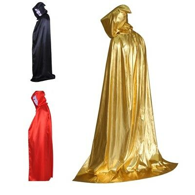 Hooded Cloak Adult Long Cape Fancy Dress with Hood Masquerade Halloween Costume