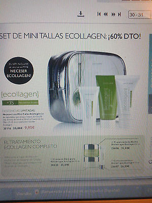 Set Minitallas  De -- Ecollagen -- Antiarrugas - Incluye Neceser