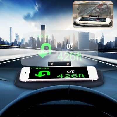 auto head up display hud handy halter gps navigation bild reflektor projektor de eur 13 29. Black Bedroom Furniture Sets. Home Design Ideas