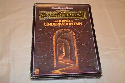 The RUINS of UNDERMOUNTAIN AD&D 2nd Ed Box Set Forgotten Realms