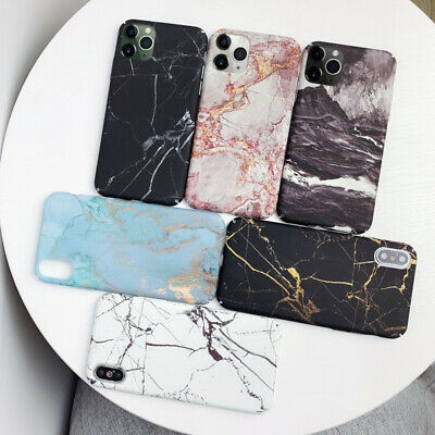 Granite Marble Effect Hard Cover Phone Case Cover Skin For iPhone 6 6s 7 8 Plus