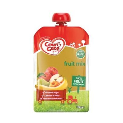 Cow & Gate - Fruit Pouch Apple & Banana 100G x 6