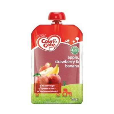 Cow & Gate - Fruit Pouch Apple & Strawberry - 100G x 6