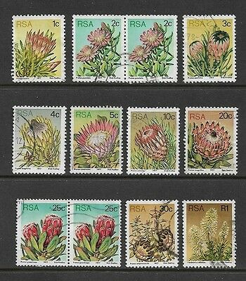 SOUTH AFRICA - 1977 Succulents, Flowers, Proteas