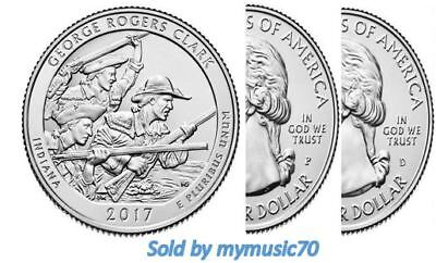 2017 P+D George Rogers Clark Park (IN) 2 Quarter Set **ON HAND**