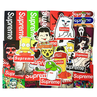 25pcs Waterproof Supreme Skateboard Stickers for Car Phone Guitar Laptop decal