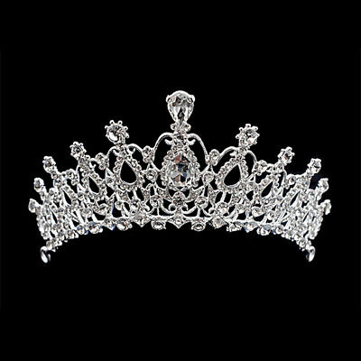 Bridal Crown Crystal Rhinestone Hair New Comb Tiara Prom Headband Wedding