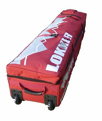 LOKKER TWIN Deck Team Ski Bag- Up to 3 pairs of skis & poles & all your gear