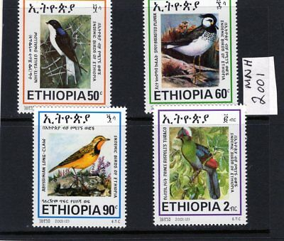 ETHIOPIA 2001 Birds Issue of 4 MINT NH