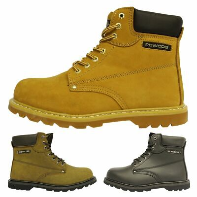 Men's Goodyear Welted Safety Steel Toe Cap Mens Hiking Work Boots UK 4-14