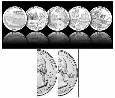 2017 National Park Quarters - Complete 10 Quarters P&D Set - US Mint *PRE SALE**