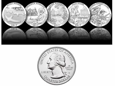 2017 National Park Quarters - Complete (S) 5 Quarters Set - **ON HAND**