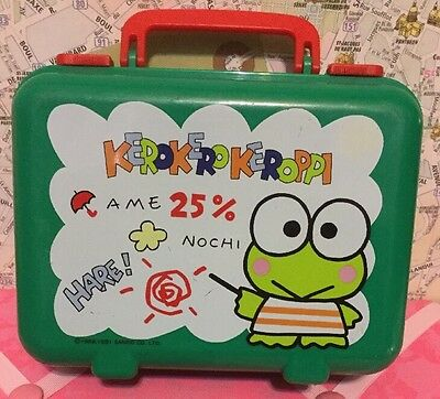 A Very Cute Rare Sanrio 1988, 1991 Kero Kero Keroppi Plastic Pencil Box