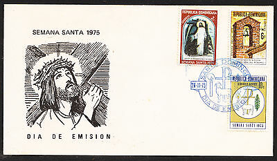 DOMINICAN REPUBLIC,  Easter 1975 FDC, VF