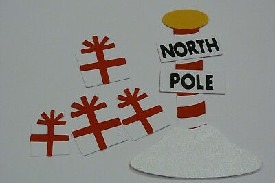 North Pole Sign With Presents Fully Assembled Die Cuts