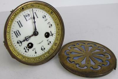 ANTIQUE JAPY FRERES FRENCH MANTEL CLOCK MOVEMENT & BACKDOOR for parts