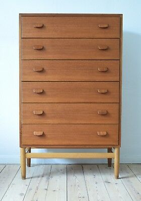 Poul Volther Teak Chest Of Drawers Model F17 From FDB. 1950's.