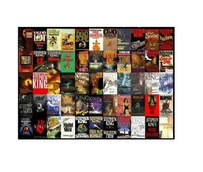 Stephen King Complete Collection of 74 Audiobooks 1974-2016 DVD/MP3