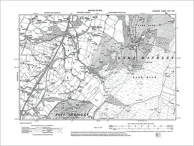 Lyme Park, old map Cheshire 1910: 29NW