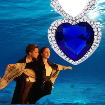 Charm Titanic The Heart Of Ocean Love Big Blue Crystal Pendant Necklace Jewelry