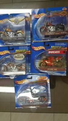 Hotwheels 1:18 Set Of 5 Motor Biks Collectables The Lot Package