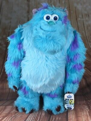 DISNEY STORE Monsters Inc University LARGE James Sullivan Sulley Soft Plush 22""