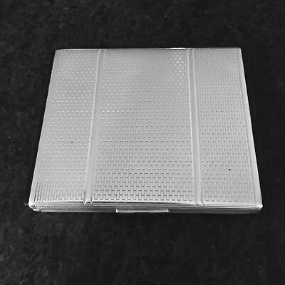 DUNHILL ~ Sterling Silver Vintage Cigarette Case With Interior Bar ~ 158.3 Grams