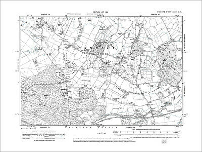 Kingsley (S), Norley, old map Cheshire 1911: 33SW