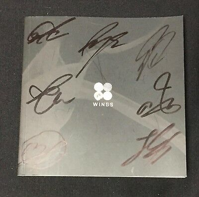 """BTS autographed """"WINGS"""" 2nd Album (W Ver.) signed PROMO CD"""