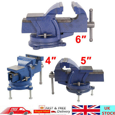 Engineers Vice Vise Swivel Base Workshop Clamp Jaw Work Bench Table 3 Types UK