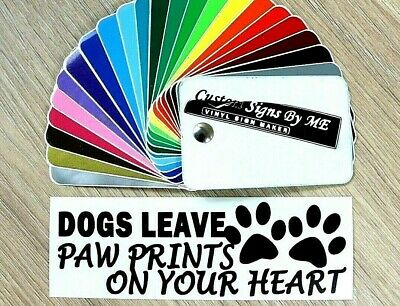 Dogs Leave Paw Prints On You Heart Car Sticker JDM Vinil Decal Window Bumper BL