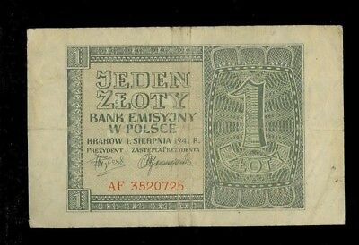1 Zloty Generalgouvernement Polen 1941 Ro.579a (III)