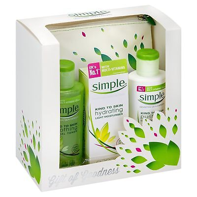 Simple Gift Of Goodness Set 4Pc Gift Your Skin Dermatological Tested New Xmas