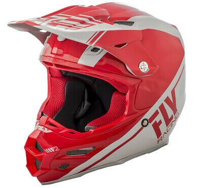 Fly Racing F2 Carbon Rewire Helmet Md Red/Grey 73-4162-3-M