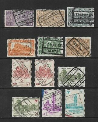 BELGIUM - Railway Parcels stamps, mixed collection No.14