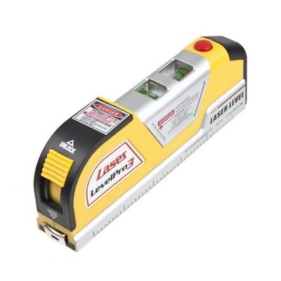 Lines Laser Level Horizontal Vertical Line Measure Measuring Tape 8 FT ABS New