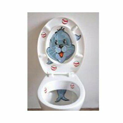 Toilettentrainer SEEHUND Kinder WC Aufkleber Toiletten Sticker Klodeckel Tattoo